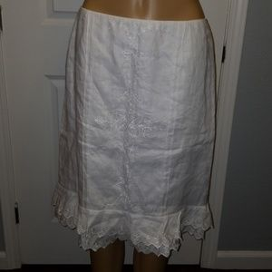 Ann Taylor White Skirt